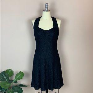 All That Jazz Black Lace Vintage Dress Size 11/12
